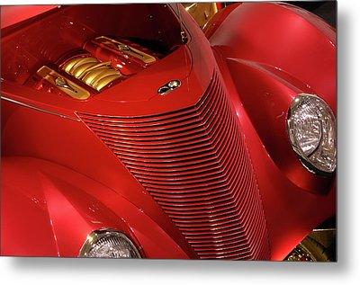 Red Classic Car Details Metal Print by Oleksiy Maksymenko
