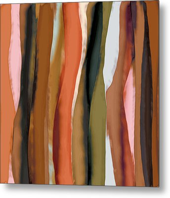 Metal Print featuring the painting Ribbons by Bonnie Bruno
