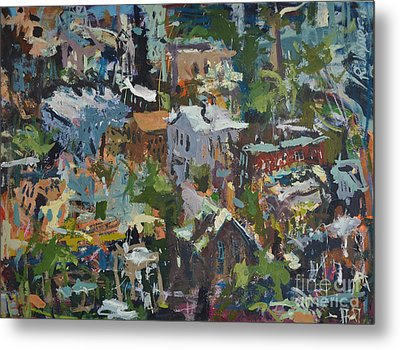 Richmond Virginia Cityscape Painting Metal Print