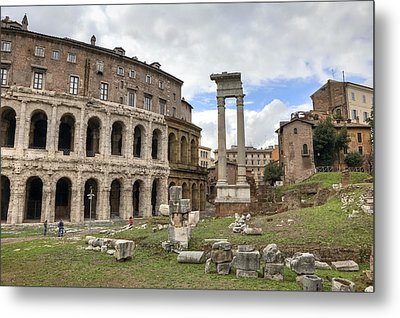 Rome - Theatre Of Marcellus Metal Print by Joana Kruse