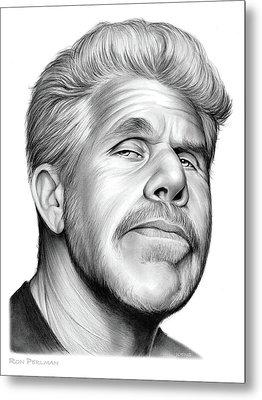 Ron Perlman Metal Print by Greg Joens