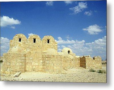 Ruins Of Qasr Amra In Jordan Metal Print by Sami Sarkis