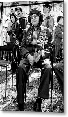 Metal Print featuring the photograph Russian World War II Veteran Tank Commander by John Williams