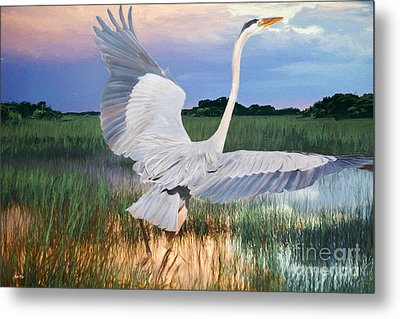Sail Into Sunset Metal Print by Judy Kay