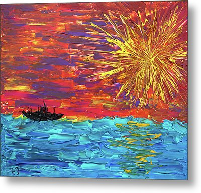Sailing From The Sun Metal Print by Erik Tanghe