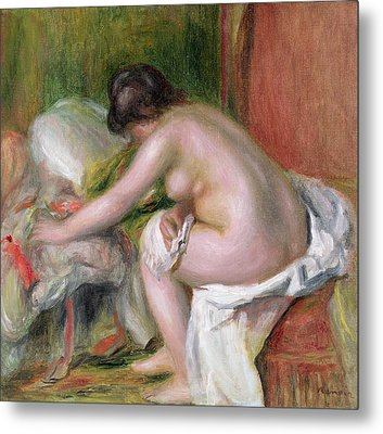 Seated Bather Metal Print by Pierre Auguste Renoir