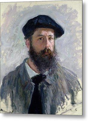 Self Portrait With A Beret Metal Print by Claude Monet