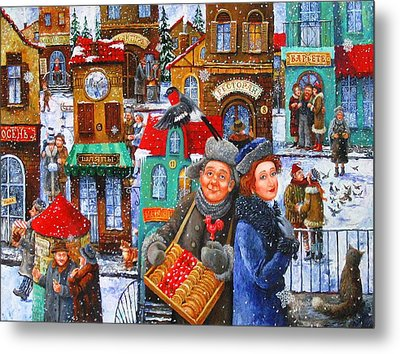 Seven Snowflakes Over My Town Metal Print by Igor Postash