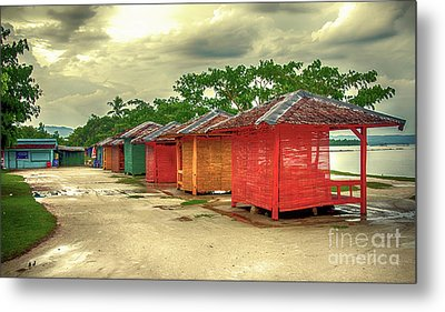 Metal Print featuring the photograph Shacks by Charuhas Images