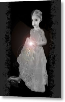 She Brings The Light Metal Print by Shelly Stallings