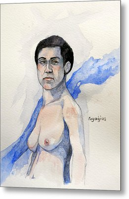 Metal Print featuring the painting Sketch For Gabrielle by Ray Agius