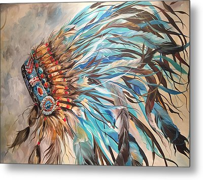Sky Feather Metal Print by Heather Roddy