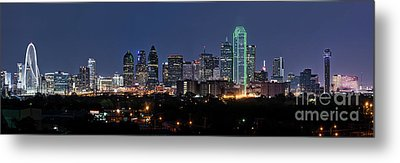 Skyline Of Dallas Pano Metal Print by Tod and Cynthia Grubbs