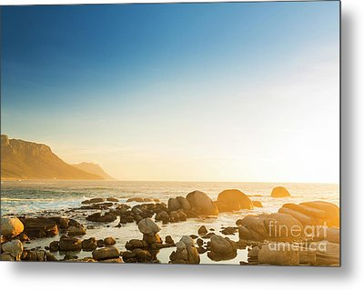 South African Ocean Sunset Metal Print by Tim Hester
