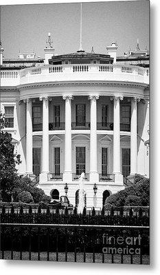south facade of the white house Washington DC USA Metal Print by Joe Fox