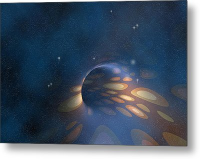 Space Abstract Metal Print