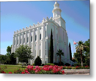 St George Utah Temple Metal Print