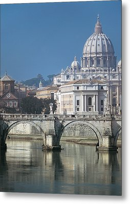 St Peters Basilica, Rome, Italy Metal Print by Martin Child