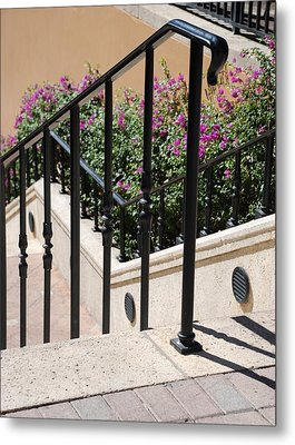 Stairs And Rails Metal Print by Rob Hans