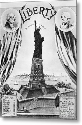 Statue Of Liberty, 1885 Metal Print by Granger