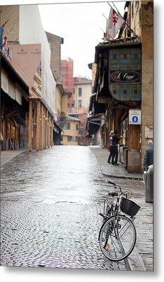 Streets Of Florence Metal Print by Andre Goncalves