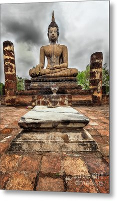 Sukhothai Historical Park Metal Print by Adrian Evans