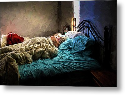 Metal Print featuring the painting Sunday Morning by Bob Orsillo