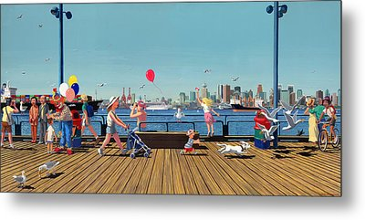Sunday Morning Lonsdale Quay Metal Print by Neil Woodward