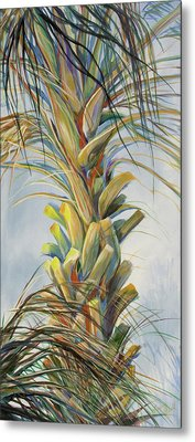 Sunlit Palm Metal Print by Michele Hollister - for Nancy Asbell