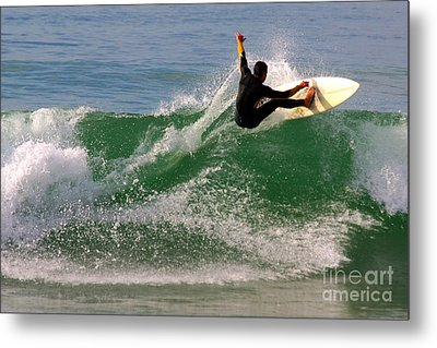 Surfer Metal Print by Carlos Caetano