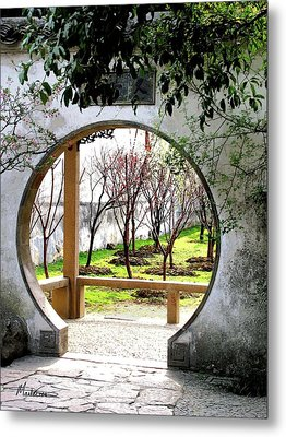 Suzhou Gardens Metal Print