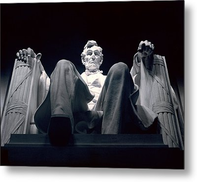 The Abraham Lincoln Statue Metal Print by Rex A. Stucky