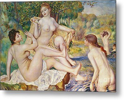 The Bathers Metal Print by Pierre Auguste Renoir