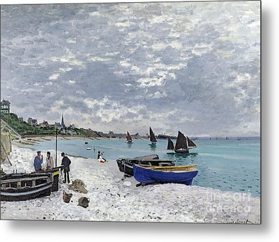 The Beach At Sainte Adresse Metal Print by Claude Monet