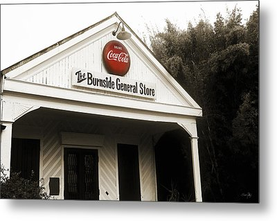 The Burnside General Store Metal Print by Scott Pellegrin