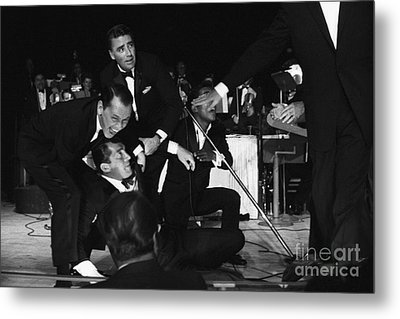 The Cast Of Ocean's 11 And Members Of The Rat Pack. Metal Print by The Titanic Project