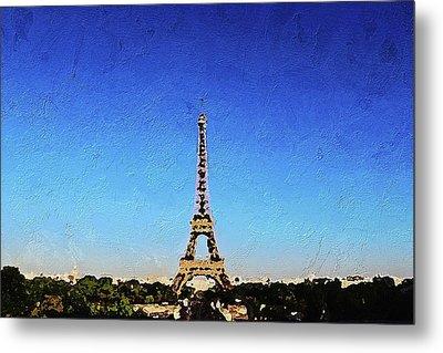 The Eiffel Tower Metal Print by PixBreak Art