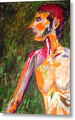 Metal Print featuring the painting Benjamin Beseiged by Esther Newman-Cohen