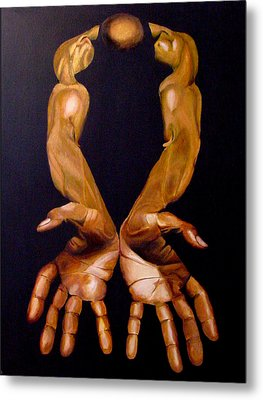 The Hands Of A Body Builder Metal Print