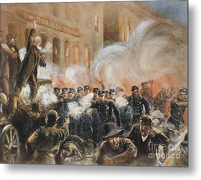 The Haymarket Riot, 1886 Metal Print