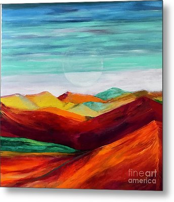 Metal Print featuring the painting The Hills Are Alive by Kim Nelson