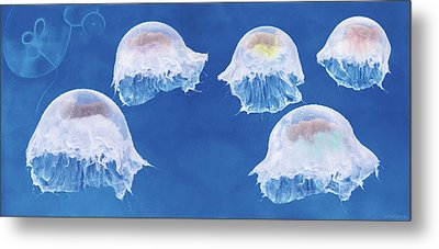 The Jellyfish Nursery Metal Print by Anne Geddes