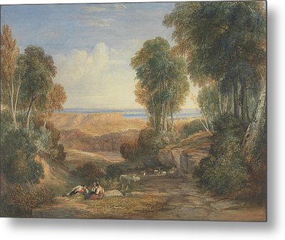 The Junction Of The Severn And The Wye With Chepstow In The Distance Metal Print by David Cox