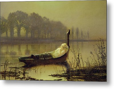 The Lady Of Shalott Metal Print by John Atkinson Grimshaw