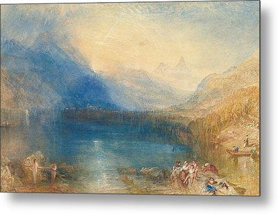 The Lake Of Zug Metal Print by Joseph Mallord William Turner