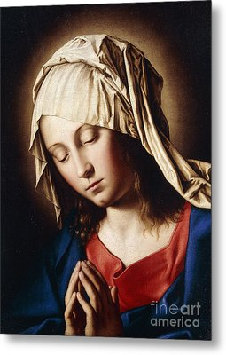 The Madonna In Prayer Metal Print