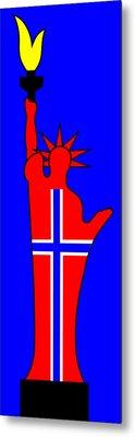 The Norwegian Statue Of Liberty Metal Print by Asbjorn Lonvig