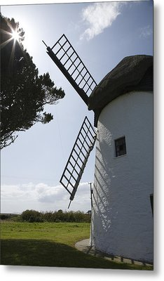 Metal Print featuring the photograph The Old Irish Windmill by Ian Middleton