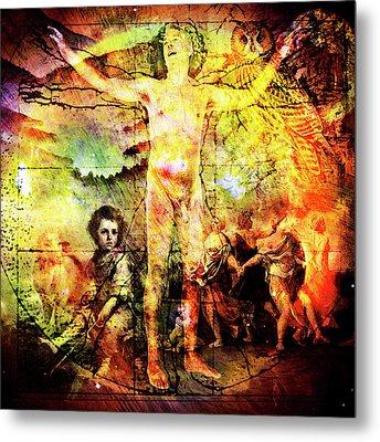 The Prophet On Death Metal Print by Barry Novis