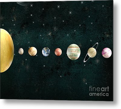 The Solar System Metal Print by Bri B